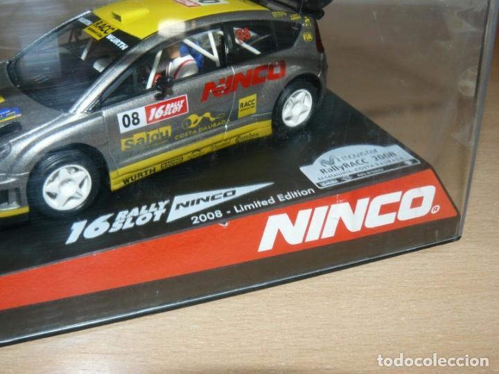 Slot Cars: Scalextric NINCO 16 Rally Slot CITROEN C4 WRC 44 Cat. - C.Daurada 2008 coche car - Foto 2 - 198331001