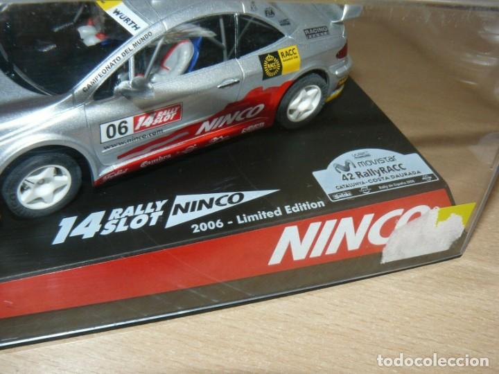 Slot Cars: Scalextric NINCO 14 Rally Slot PEUGEOT 307 42 Catalunya- C.Daurada 2006 Movistar coche car - Foto 2 - 198331973