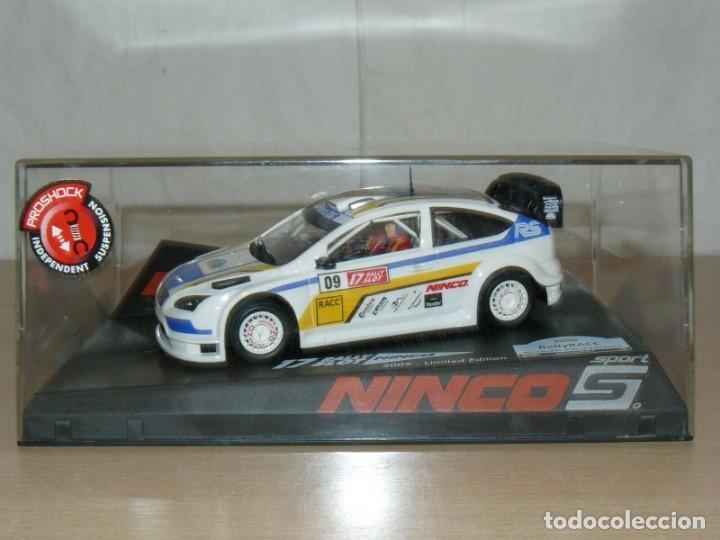 SCALEXTRIC NINCO 17 RALLY SLOT FORD FOCUS WRC 45 CAT. - C. DAURADA 2009 MOVISTAR COCHE CAR (Juguetes - Slot Cars - Ninco)