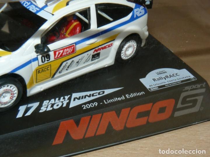 Slot Cars: Scalextric NINCO 17 Rally Slot FORD FOCUS WRC 45 Cat. - C. Daurada 2009 Movistar coche car - Foto 2 - 198332593