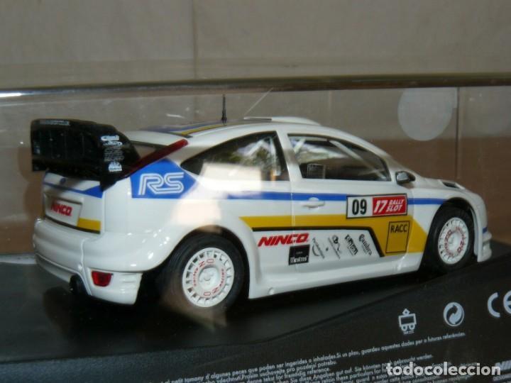 Slot Cars: Scalextric NINCO 17 Rally Slot FORD FOCUS WRC 45 Cat. - C. Daurada 2009 Movistar coche car - Foto 3 - 198332593