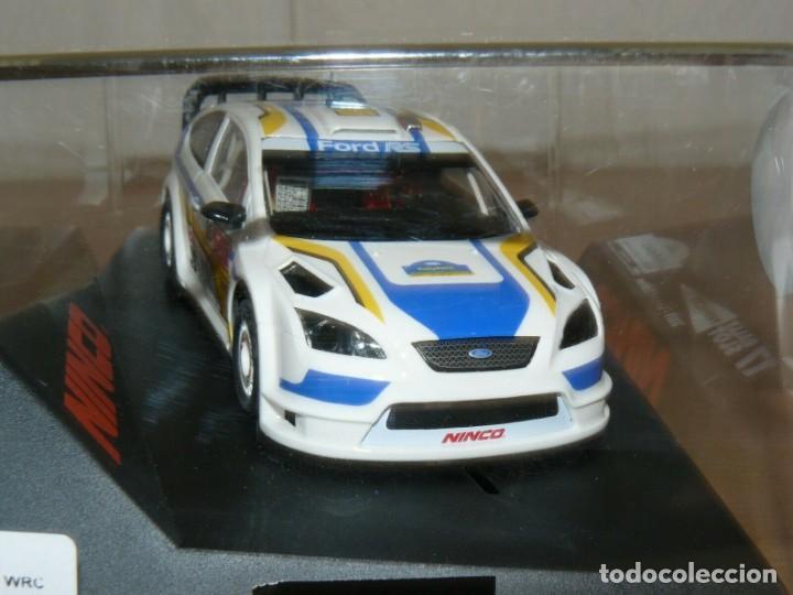 Slot Cars: Scalextric NINCO 17 Rally Slot FORD FOCUS WRC 45 Cat. - C. Daurada 2009 Movistar coche car - Foto 4 - 198332593