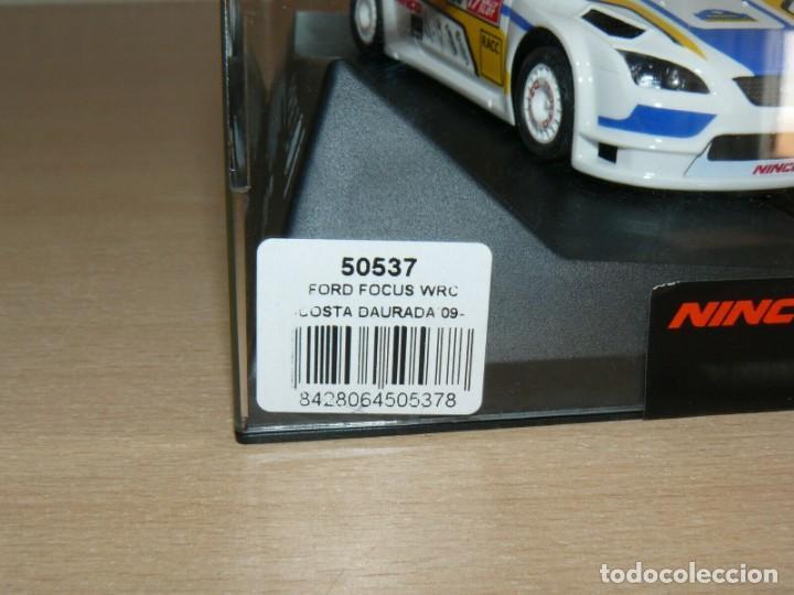 Slot Cars: Scalextric NINCO 17 Rally Slot FORD FOCUS WRC 45 Cat. - C. Daurada 2009 Movistar coche car - Foto 5 - 198332593