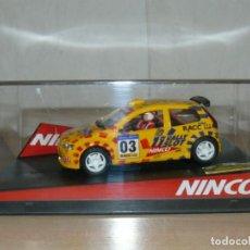 Slot Cars: SCALEXTRIC NINCO 11 RALLY SLOT 03 FIAT PUNTO 39 RALLY CAT.- C. BRAVA MOVISTAR COCHE CAR. Lote 198332786