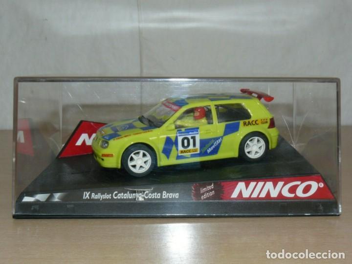 SCALEXTRIC NINCO IX RALLY SLOT VW VOLKSWAGEN GOLF MOVISTAR 37 RALLY RACC CATALUNYA COSTA BRAVA 01 (Juguetes - Slot Cars - Ninco)