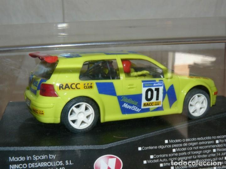 Slot Cars: SCALEXTRIC NINCO IX Rally Slot VW VOLKSWAGEN GOLF Movistar 37 Rally RACC Catalunya Costa Brava 01 - Foto 2 - 198333087