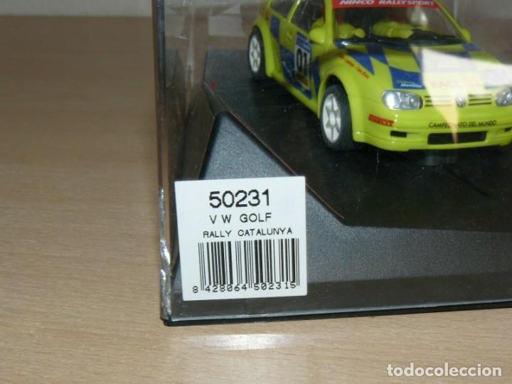 Slot Cars: SCALEXTRIC NINCO IX Rally Slot VW VOLKSWAGEN GOLF Movistar 37 Rally RACC Catalunya Costa Brava 01 - Foto 4 - 198333087