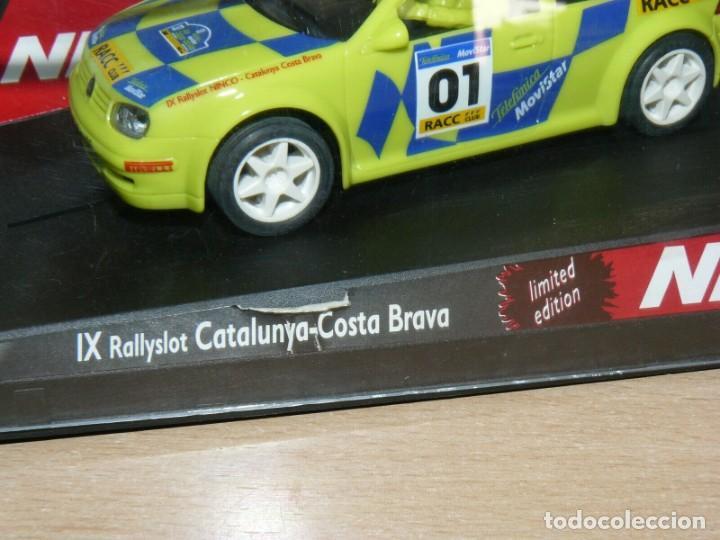 Slot Cars: SCALEXTRIC NINCO IX Rally Slot VW VOLKSWAGEN GOLF Movistar 37 Rally RACC Catalunya Costa Brava 01 - Foto 5 - 198333087