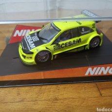 Slot Cars: COCHE SCALEXTRIC DE NINCO RENAULT MEGANE TROPHY CESAM REF. 50379. Lote 202848080