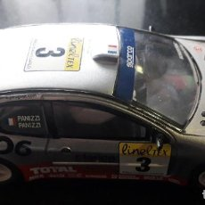 Slot Cars: COCHE SCALEXTRIC PEUGEOT 206 WCR PRO TURBO 4X4. Lote 202975720