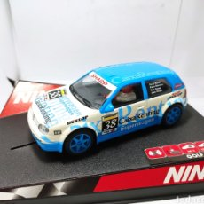 Slot Cars: NINCO VW GOLF CAIXARENTING REF. 50244. Lote 205649081