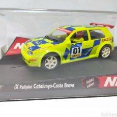 Slot Cars: NINCO VW GOLF RALLY CATALUNYA REF. 50231. Lote 206235500