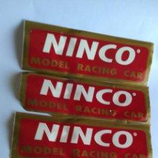 Slot Cars: NINCO LOTE DE 4 ADHESIVOS PUBLICIDAD TAMAÑO 33X10 CMS. Lote 206491562