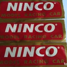 Slot Cars: NINCO LOTE DE 3 ADHESIVOS TAMAÑO 33X10 CMS. Lote 206491668