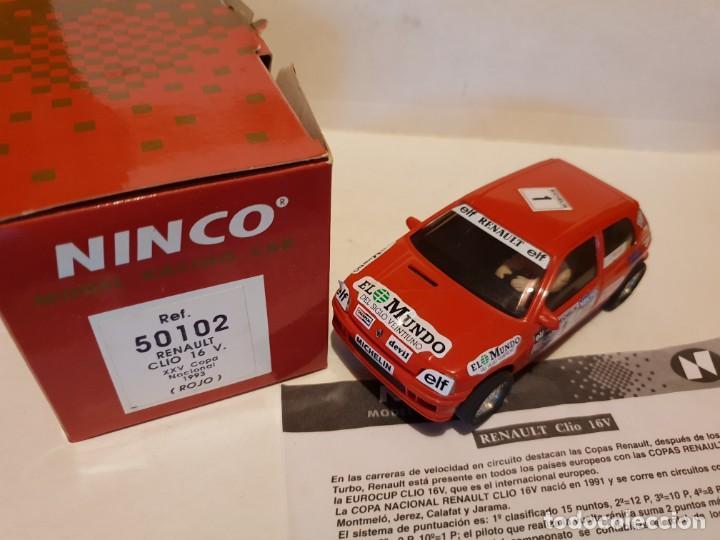 RENAULT CLIO DE NINCO REF.-50102 (Juguetes - Slot Cars - Ninco)