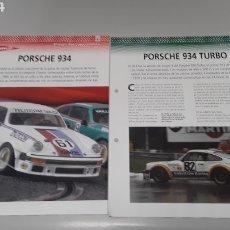 Slot Cars: PORSCHE 911/934 -FICHA TECNICA +FICHA DEL MODELO NINCO-6 PAG. Lote 210430942