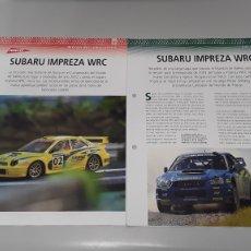 Slot Cars: SUBARU IMPREZA WRC - FICHA TECNICA +FICHA DEL MODELO NINCO-6 PAG. Lote 210430976