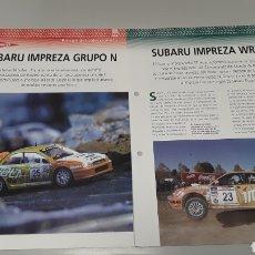 Slot Cars: SUBARU IMPREZA GRUPO N - FICHA TECNICA +FICHA DEL MODELO NINCO - 6 PAG. Lote 210430987