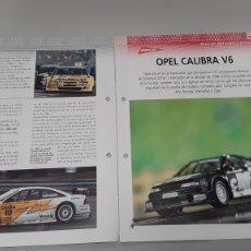 Slot Cars: -OPEL CALIBRA V6 -FICHA TECNICA +FICHA DEL MODELO NINCO- 6 PAG. Lote 210431353