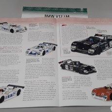 Slot Cars: -BMW V 12 LM - FICHA TECNICA +FICHA DEL MODELO NINCO-6 PAG. Lote 210431387