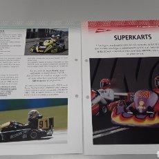 Slot Cars: -SUPER KARTS -FICHA TECNICA +FICHA DEL MODELO NINCO- 6 PAG. Lote 210431428