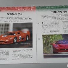 Slot Cars: -FERRARI F 50 -FICHA TECNICA +FICHA DEL MODELO NINCO-4 PAG. Lote 210431511