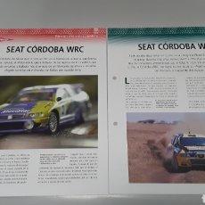 Slot Cars: -SEAT CORDOBA WRC- FICHA TECNICA +FICHA DEL MODELO NINCO-4 PAG. Lote 210431570