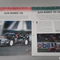 Slot Cars: -ALFA ROMEO 155 DTM -FICHA TECNICA +FICHA DEL MODELO NINCO -6 PAG. Lote 210431637