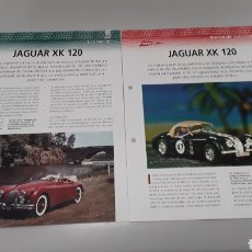 Slot Cars: -JAGUAR XK 120 -FICHA TECNICA +FICHA DEL MODELO NINCO -4 PAG. Lote 210439871