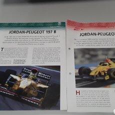 Slot Cars: -JORDÁN PEUGEOT 167 F1 -FICHA TECNICA +FICHA DEL MODELO NINCO - 4 PÁGINAS. Lote 210440470