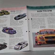 Slot Cars: -AUDI TT-R DTM- FICHA TECNICA +FICHA DEL MODELO NINCO - 4 PÁGINAS. Lote 210440895