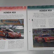Slot Cars: -HONDA NSX JGTC- FICHA TECNICA +FICHA DEL MODELO NINCO - 4 PÁGINAS. Lote 210441226