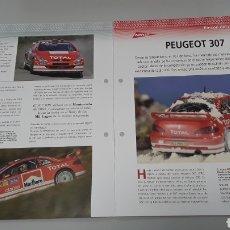 Slot Cars: -PEUGEOT 307 WRC- FICHA TECNICA +FICHA DEL MODELO NINCO- 4 PÁGINAS. Lote 210441457