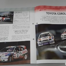 Slot Cars: -TOYOTA COROLLA WRC - FICHA TECNICA +FICHA DEL MODELO NINCO - 6 PÁGINAS. Lote 210442197