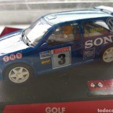 Slot Cars: COCHE SCALEXTRIC DE NINCO VOLSKWAGEN GOLF SONY. REF. 50228 D. SÈNIOR Y A. MCRAE. NUEVO PRECINTADO. Lote 211398371