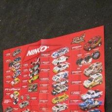 Slot Cars: NINCO ORIGINAL: DESPLAGABLE EN POSTER CATALOGO DE COHCES Y REAL RACING. Lote 211468731