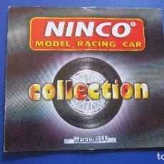 Slot Cars: NINCO ORIGINAL: CATALOGO PEQUEÑO DESPLEGABLE. 3 DEL 98. SALIA DENTRO DE LOS ESTUCHES DE COCHE. Lote 212063135
