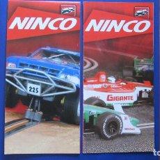 Slot Cars: NINCO ORIGINAL: 2 CATALOGOS DESPLEGABLES. Lote 212251960