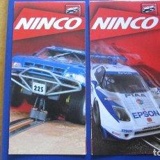 Slot Cars: NINCO ORIGINAL: 2 CATALOGOS DESPLEGABLES (OTRO). Lote 212252487