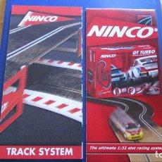 Slot Cars: NINCO ORIGINAL: TRACKS SYSTEM Y OTRO CATALOGO DESPLEGABLE. Lote 212344840