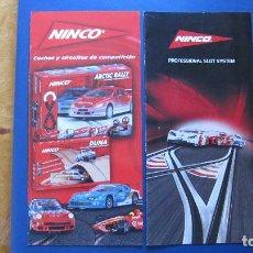 Slot Cars: NINCO ORIGINAL: 2 CATALOGOS DESPLEGABLES CIRCUITOS Y PROFESSIONAL SLOT SYSTEM. Lote 212677958