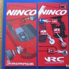 Slot Cars: NINCO ORIGINAL: 2 CATALOGOS DESPLEGABLES PRORACE Y NINCO RACING COMPONENTS. Lote 212678457
