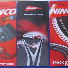 Slot Cars: NINCO ORIGINAL: 3 CATALOGOS DESPLEGABLES PRORACE,TRACK SYYSTEM,PROFESSIONAL SLOT. Lote 212754133