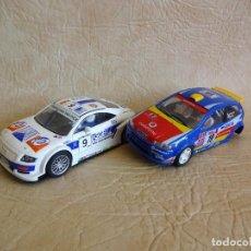 Slot Cars: AUDI TT BELCAR Y FIAT SUPER 1600 SCALEXTRIC NINCO. Lote 214364900