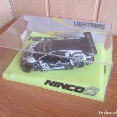Slot Cars: SCALEXTRIC NINCO : LIGHTNING PRORACE , REF. 50569 COCHE LAMBORGHINI MURCIELAGO BLANCPAIN. Lote 214934845
