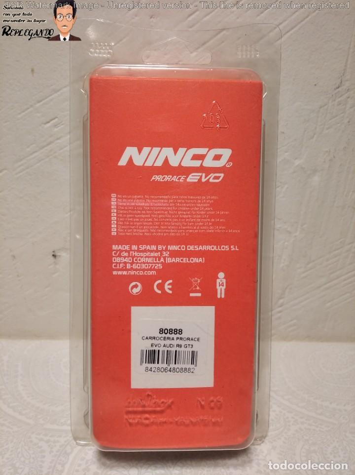 Slot Cars: CARROCERÍA NINCO PRORACE EVO - AUDI R8 GT3 - REFERENCIA: 80888 - COCHE SLOT - - Foto 2 - 219265795