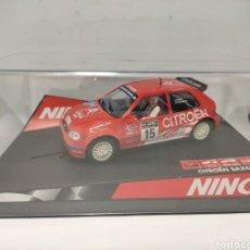 Slot Cars: NINCO CITROEN SAXO SVEEN HAF REF. 50284. Lote 277841718