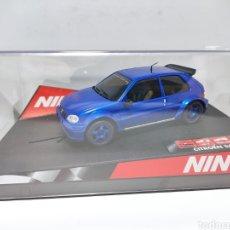 Slot Cars: NINCO CITROEN SAXO BLUE TUNING REF. 50272. Lote 220065765