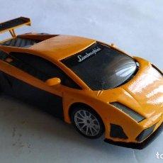 Slot Cars: NINCO COCHE SLOT LAMBORGHINI, MODIFICADO, CON LUCES, FUNCIONA. Lote 221398193