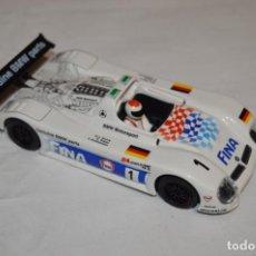 Slot Cars: NINCO - BMW V12 LEMANS 98 FINA - REF. 50192 - SLOT - EN BUEN ESTADO -. Lote 221593881